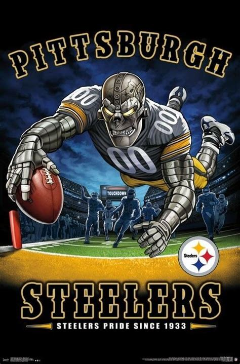 pittsburgh steelers  zone mascot poster  nfl