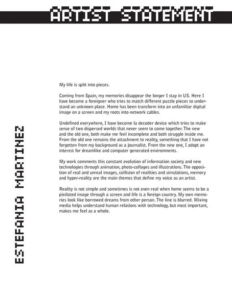 artist statement template writing the artist statement hamilton arts council