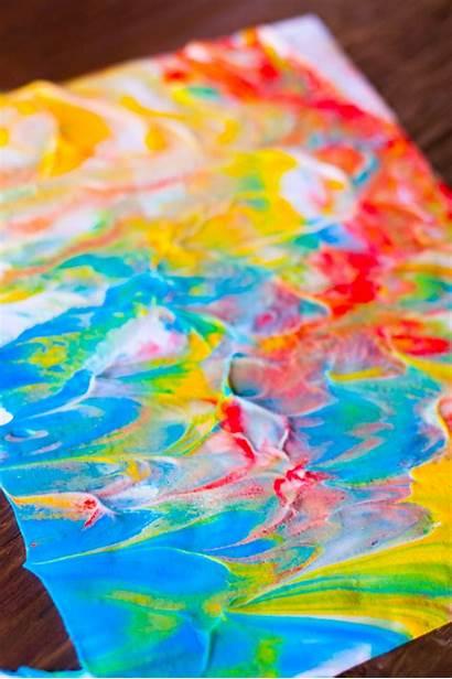 Shaving Cream Paint Toddlers Sensory Fun Painting