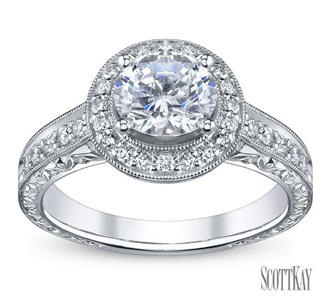 Scott Kay  Robbins Brothers Engagement Rings, Proposals. Silicon Carbide Rings. Male Female Wedding Rings. Mix Engagement Rings. Coloured Engagement Rings. Full Finger Rings. $3000 Engagement Rings. Side Profile Engagement Rings. Morgan Engagement Rings