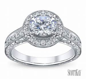 Halo diamond engagement ring robbins brothers engagement for Diamonds wedding rings