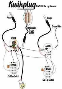 Kwikplug Lp Dual Coil Tap Humbucker Wiring Harness