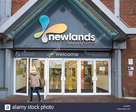 entrance to the newlands shopping centre kettering stock