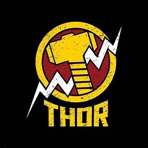 Thor Hammer T-Shirt   Buy Marvel Merch   The Souled Store ...