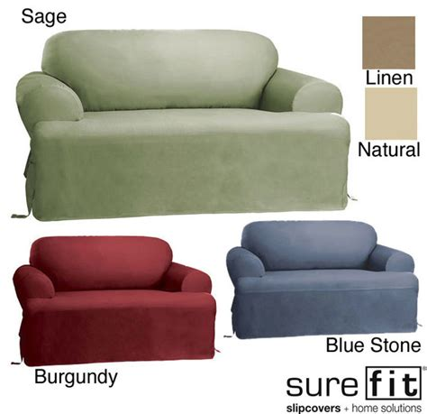 Sure Fit T Cushion Sofa Slipcover by Sure Fit Cotton Classic T Cushion Sofa Slipcover