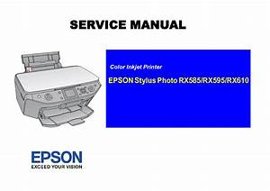 Epson Stylus Photo Rx585 Rx595 Rx610 Sm Service Manual