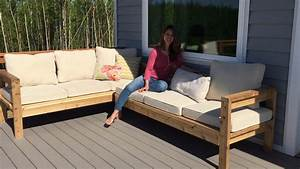 ana white one arm outdoor sectional piece diy projects With build your own outdoor sectional sofa