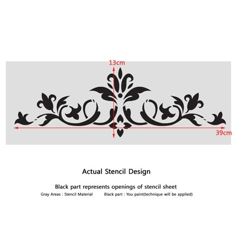 Templates For Stencils by Wall Stencils Border Stencil Pattern 072 Reusable Template