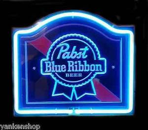 SB146 Pabst Blue Ribbon Beer Bar Pub Decor Neon Light Sign