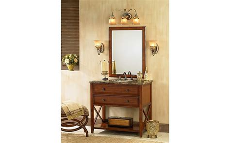 The Traditional Bathroom Combines Cherry Wood Finishes