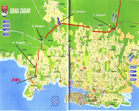 zadar croatia city  destination  map town maps