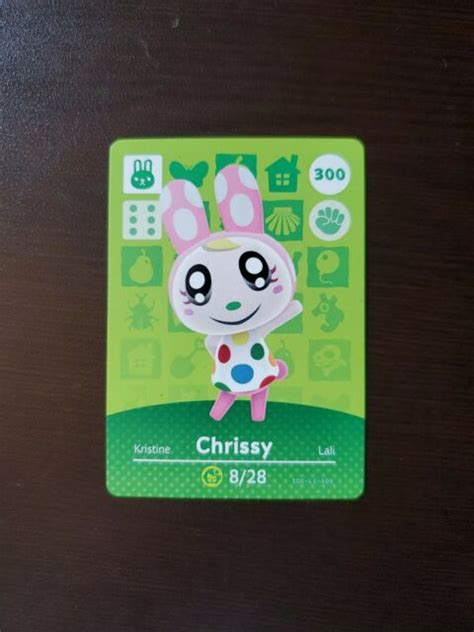 Shop with afterpay on eligible items. Chrissy #300 Animal Crossing Rabbit Amiibo Card MINT Never Scanned   eBay