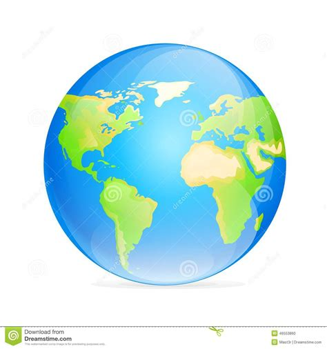 color world vector globe icon color world map stock illustration