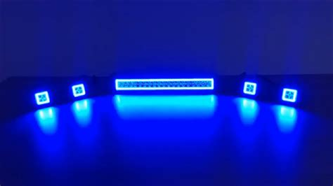 rgb color changing halos road light bar and led pods