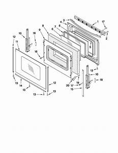 Door Parts Diagram  U0026 Parts List For Model Wfe324lwq0