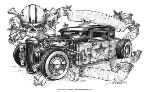 Badass Jeral Tidwell Hot Rod Drawing