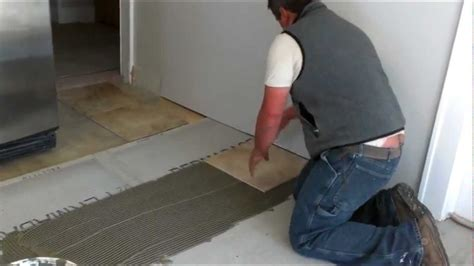How To Lay A Tile Floor In A Bathroom by How To Install Ceramic Tiles On A Floor