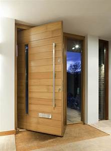 architectural pivot door contemporary architecture With porte entrée bois