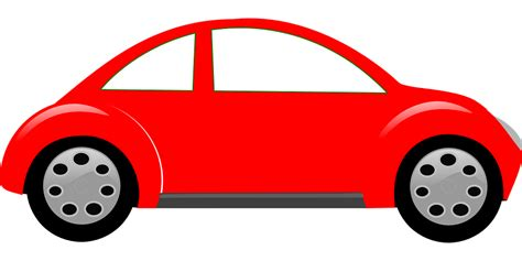 cartoon car free vector graphic car automobile vehicle red free