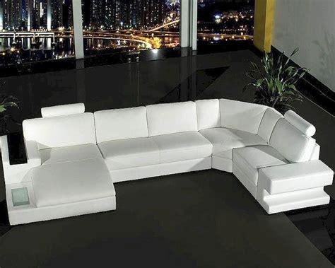 white leather sofa set 4pc white leather sectional sofa set 44l0557