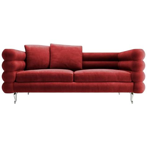 Sofa Rot Samt by Velvet Sofa Glam Styled Velvet