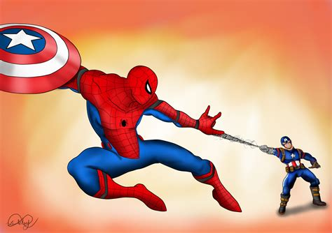 spider man  civil war  wembleyaraujo  deviantart