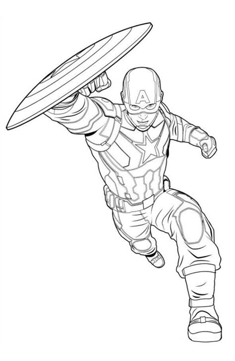 captain america marvel avengers coloring page coloring