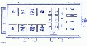1998 Plymouth Voyager Fuse Box Diagram