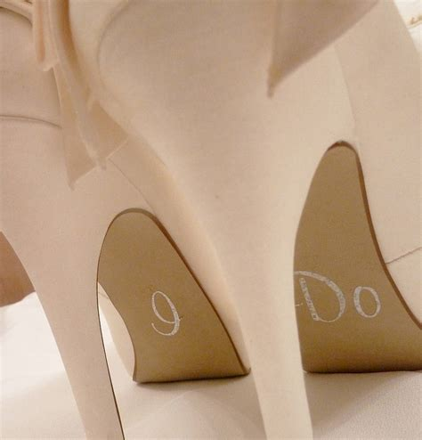 Personalised Wedding Shoe Stickers By Nutmeg Wall Stickers