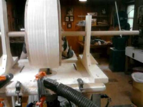turning  stave drum   router jig youtube