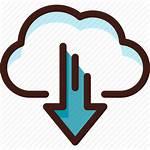 Sync Cloud Data Server Icon Host Arrow