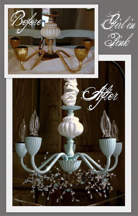 brass chandelier makeover ideas  pinterest