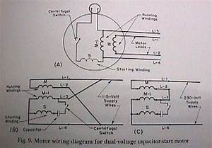 Dual Voltage Single Phase Motor Wiring Diagram