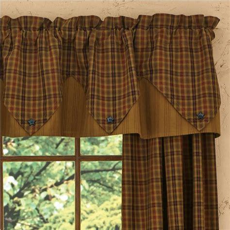 primitive country kitchen curtains country point valance curtains primitive spice 72 quot x 15 quot 4414