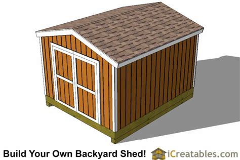 10x12 Gable Storage Shed Plans by 10x12 Shed Plans Gable Shed Storage Shed Plans