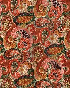 Autumn paisley pattern via calsidyrose inspires for Indian carpet designs