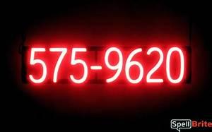 7 Digit Phone Number Signs