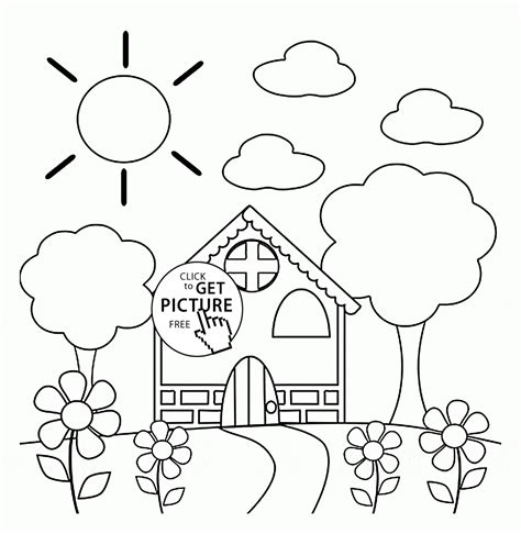 preschool house in coloring page for seasons 494 | f98f3b3114565bc0b9133ec42bcacd16