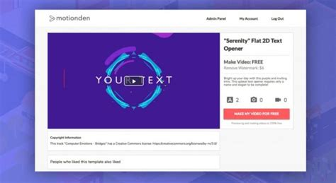 custom intro templates free intro maker create your own intro in minutes motionden