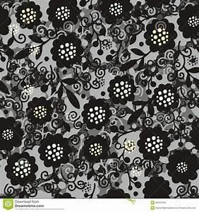 Seamless Semitrancparente Floral Pattern Royalty Free ...