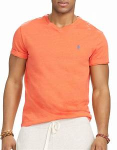 Polo V : polo ralph lauren orange v neck tee for men lyst ~ Gottalentnigeria.com Avis de Voitures