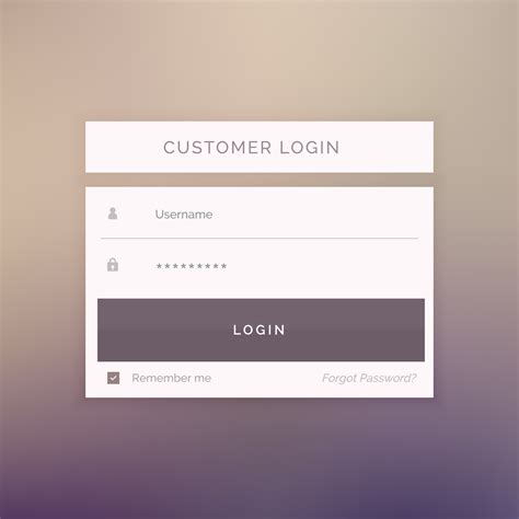 minimal login form template design for website and