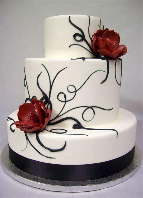 cakes ideas black and white wedding cakes