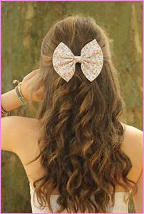Cute hairstyles for long curly hair school - StylesStar.Com
