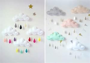 Mobile Pour Bébé : mobile nuage chic et adorable pour b b mon b b ch ri ~ Teatrodelosmanantiales.com Idées de Décoration