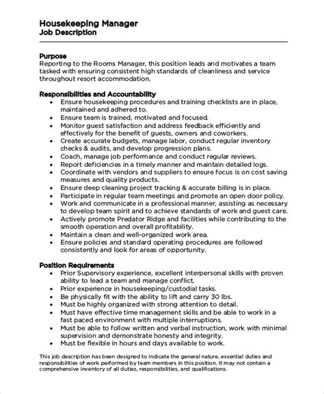 Housekeeping Manager Sle Resume by Housekeeping Duties And Responsibilities Resume Ideas