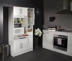 Buffet de cuisine contemporain blanc galibert buffet et for Petite cuisine équipée avec meuble buffet vaisselier