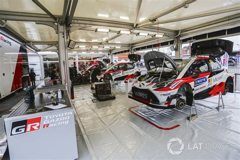 toyota area toyota racing team area at rally finland