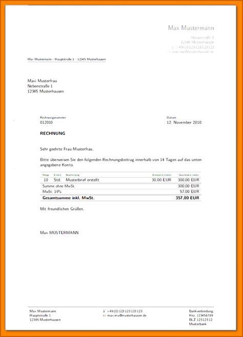 rechnungsvorlage privatverkauf word vorlagen