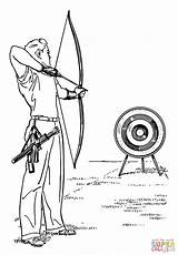 Coloring Pages Archery Printable Drawing Paper sketch template